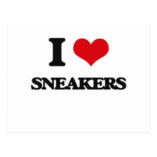 I love Sneakers Postcard