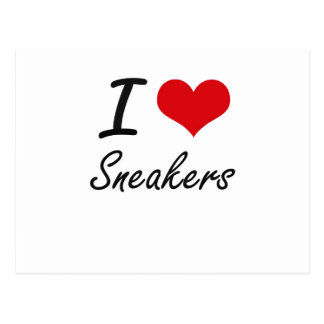 I love Sneakers Postcard