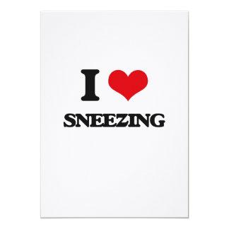 I love Sneezing 13 Cm X 18 Cm Invitation Card