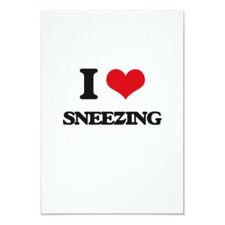 I love Sneezing 9 Cm X 13 Cm Invitation Card