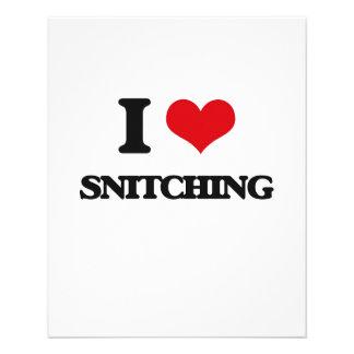 I Love Snitching 11.5 Cm X 14 Cm Flyer
