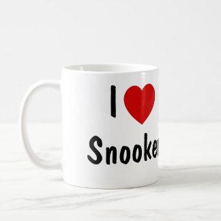 I Love Snooker Basic White Mug