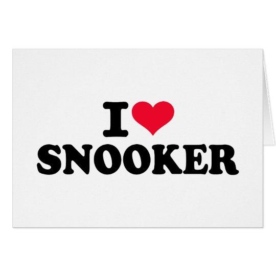 I love snooker card