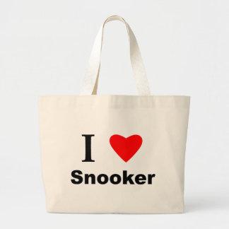 I Love Snooker Jumbo Tote Bag