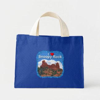 I Love Snoopy Rock Tote Bag