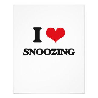 I love Snoozing 11.5 Cm X 14 Cm Flyer