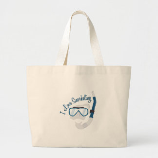 I Love Snorkeling Canvas Bags