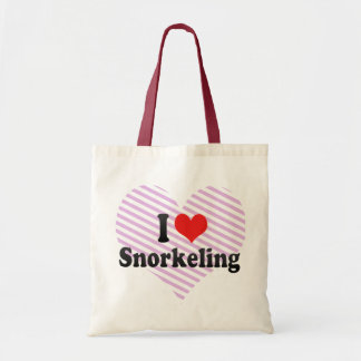 I Love Snorkeling Canvas Bag