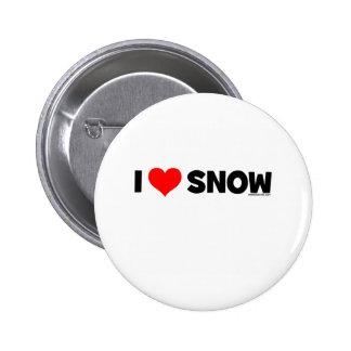 I Love Snow 6 Cm Round Badge