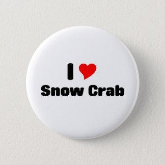 I love Snow crab 6 Cm Round Badge