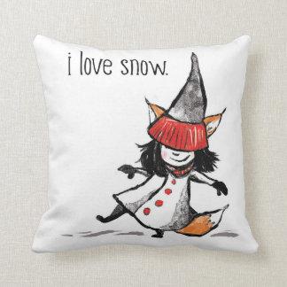 I love snow! cushion