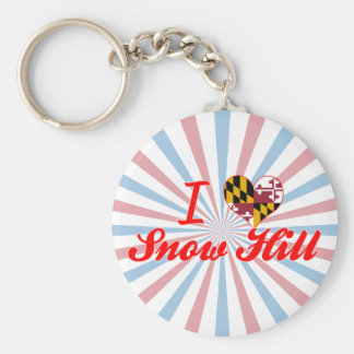 I Love Snow Hill, Maryland Keychains