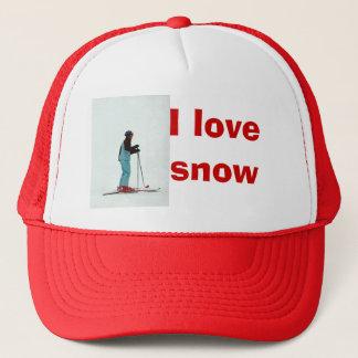 I love snow trucker hat