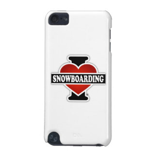 I Love Snowboarding iPod Touch 5G Cover