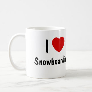 I Love Snowboarding Coffee Mug