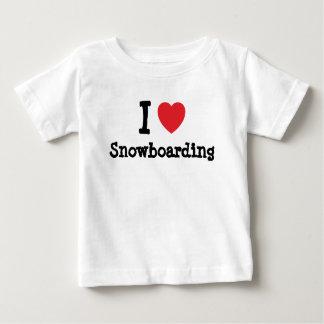 I love Snowboarding heart custom personalized Shirt