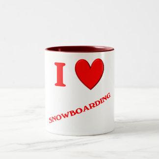 I Love Snowboarding Coffee Mugs