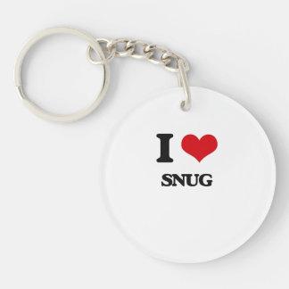 I love Snug Single-Sided Round Acrylic Keychain