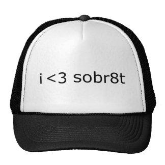 I Love Sobriety Hats