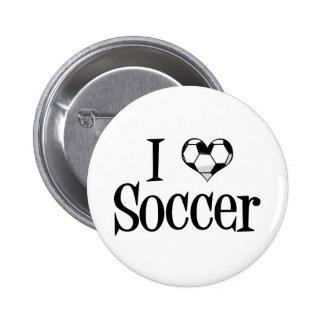 I Love Soccer 6 Cm Round Badge