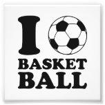 I Love Soccer Ball Basketball