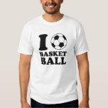 I Love Soccer Ball Basketball Tshirt
