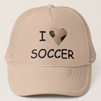I LOVE SOCCER HAT
