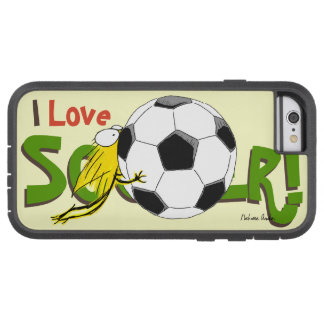 I love SOCCER! Kitten chewy Soccerball Tough Xtreme iPhone 6 Case