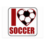 I love soccer! postcard
