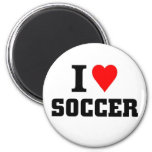 I love soccer refrigerator magnet