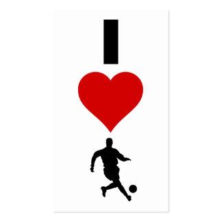 I Love Soccer (Vertical) Pack Of Standard Business Cards