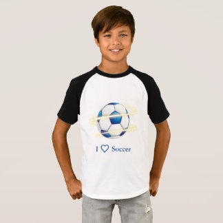 I Love Soccer With Monogram T-Shirt