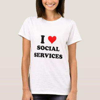 I Love Social Services T-Shirt