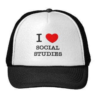 I Love Social Studies Mesh Hat