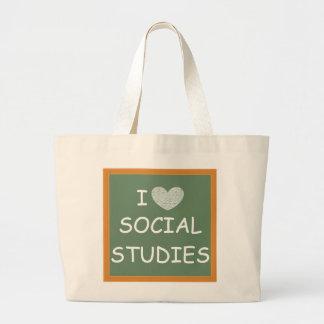 I Love Social Studies Jumbo Tote Bag