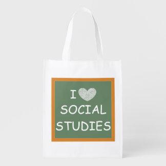 I Love Social Studies Market Tote