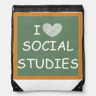 I Love Social Studies Rucksacks