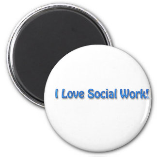 I Love Social Work 6 Cm Round Magnet
