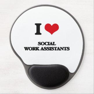 I love Social Work Assistants Gel Mouse Mats