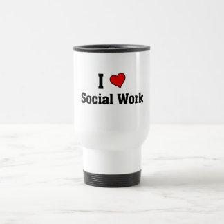 I love Social work Travel Mug