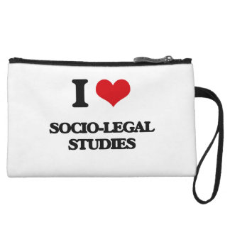 I Love Socio-Legal Studies Wristlet Clutches