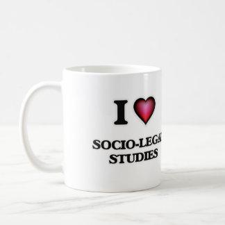I Love Socio-Legal Studies Basic White Mug