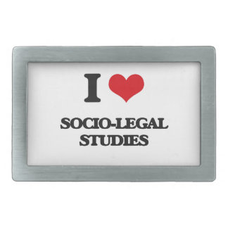 I Love Socio-Legal Studies Rectangular Belt Buckles