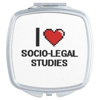 I Love Socio-Legal Studies Digital Design Makeup Mirrors