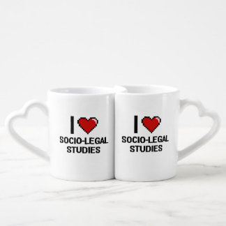 I Love Socio-Legal Studies Digital Design Couples' Coffee Mug Set