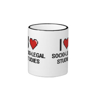 I Love Socio-Legal Studies Digital Design Ringer Mug