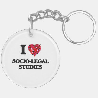 I Love Socio-Legal Studies Double-Sided Round Acrylic Key Ring