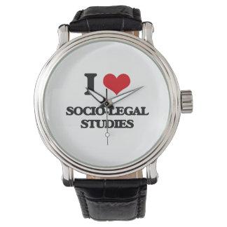 I Love Socio-Legal Studies Wristwatches