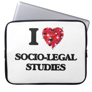 I Love Socio-Legal Studies Laptop Computer Sleeve