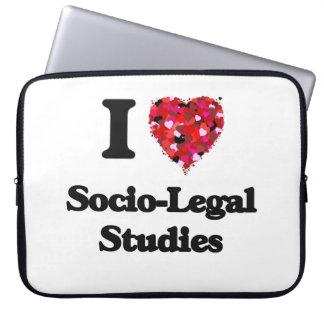 I Love Socio-Legal Studies Laptop Computer Sleeves